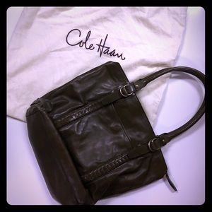 Olive Green Leather Cole Haan Tote